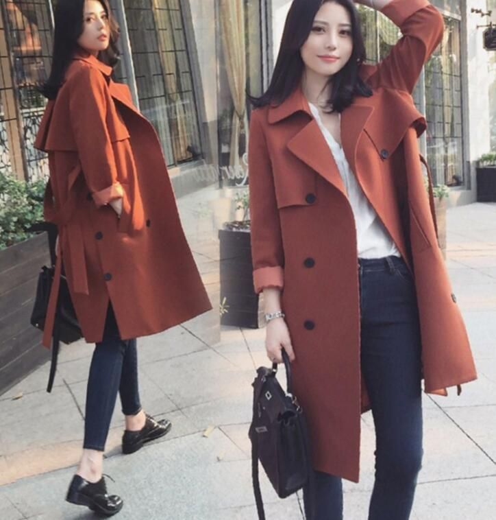 Fashion Women's Parka Coats Hooded Military Long Trench Outwear Jacket