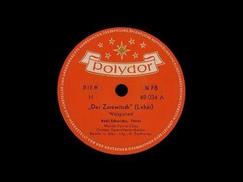 """Wolgalied"" (Lehár) Rudi Schuricke 1954 - YouTube"