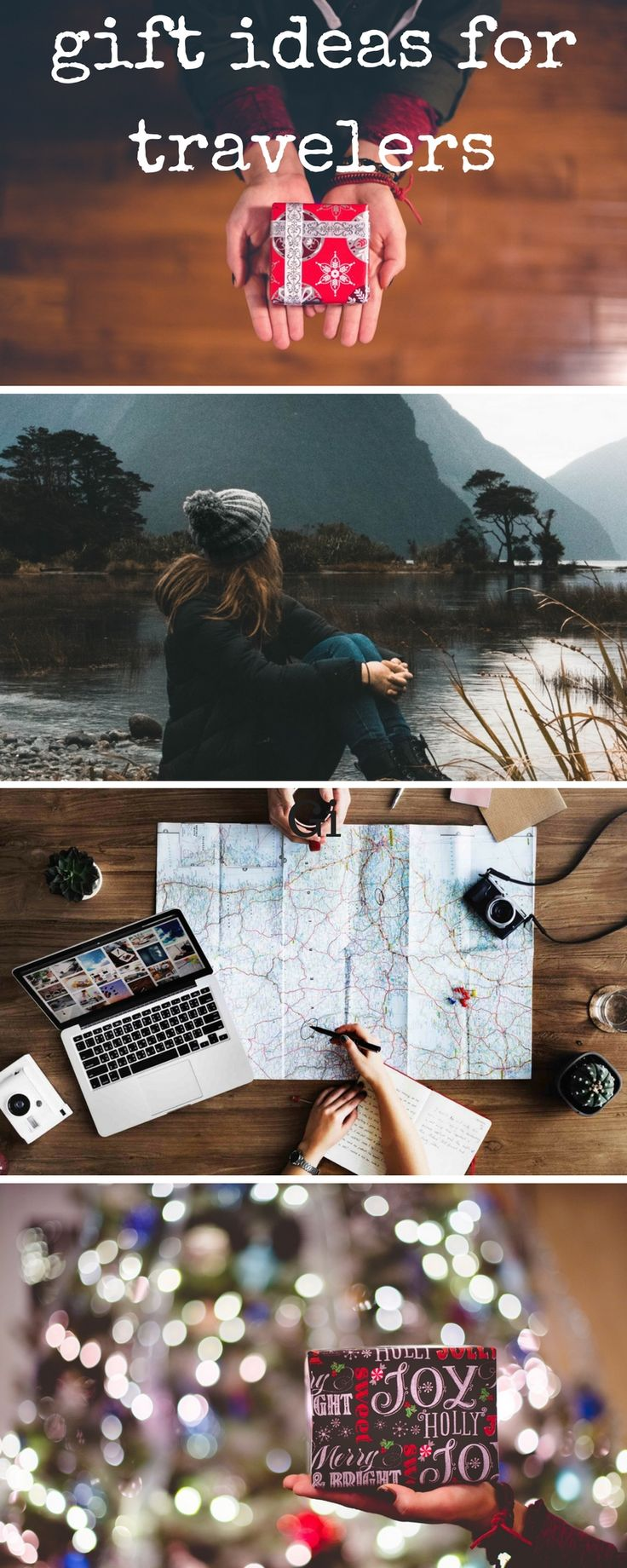 All the best ideas for Christmas gifts. These are great gifts for both men and women travelers going around the world.