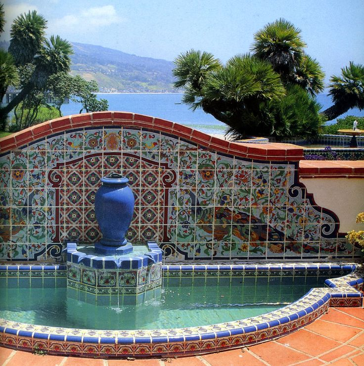 California Big Houses With Pools: 97 Best Fountains, Water Features Images On Pinterest