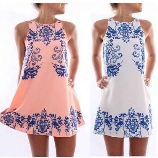 Горячие женщины брендовую одежду 2015 лето новая мода элегантное платье без рукавов платье ретро платье печати Femme Платье с круглым вырезом платье