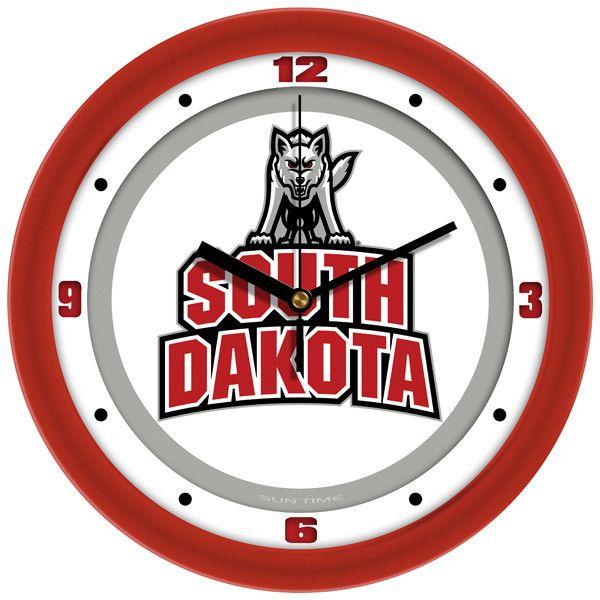 Mens South Dakota Coyotes - Traditional Wall Clock