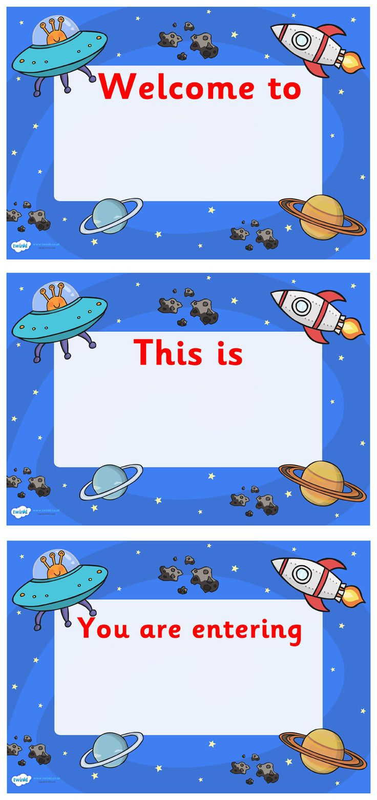 Twinkl Resources >> Space Themed Class Welcome Signs  >> Classroom printables for Pre-School, Kindergarten, Elementary School and beyond! Display, Posters, Space Theme