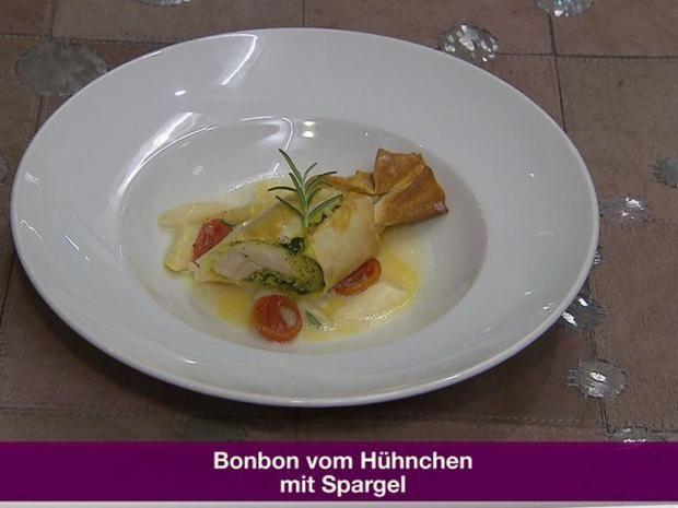 Rezept: Bonbon vom Hühnchen mit Spargel (Jochen Bendel)