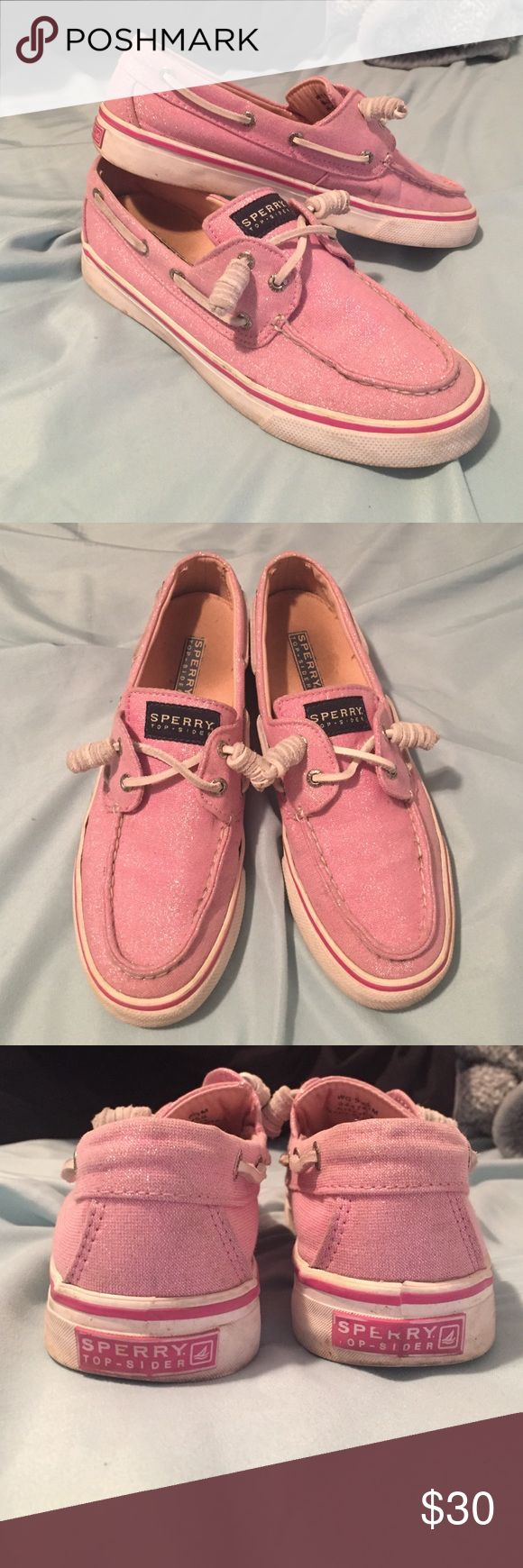 ✨Sale✨Sparkly Pink Sperry Top Siders💕 These Sperry's have been pre-loved but are still in great condition! Super cute color that would make any outfit pop ⭐️ feel free to ask questions and make offers. NO TRADES. Womens size 6.5. Cheaper on Ⓜ️ercari! Sperry Top-Sider Shoes