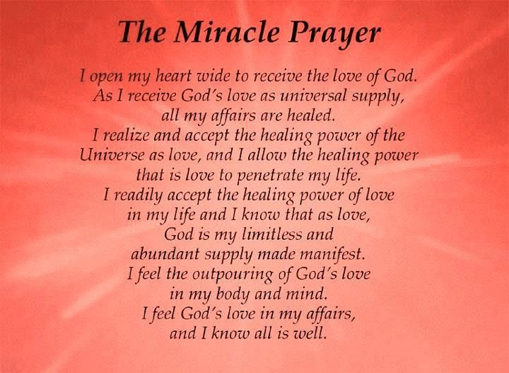 Christian Life Quotes and Sayings | Prayer Quotes The Miracle Prayer - Online Free Quotes Collection