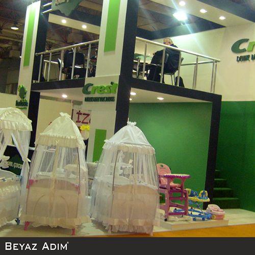Bu özel stand çalışması örneğini Anıl Çocuk firması için uygulamıştık. #BeyazAdım #Mimarlık #Stand #Fuar #özelstand