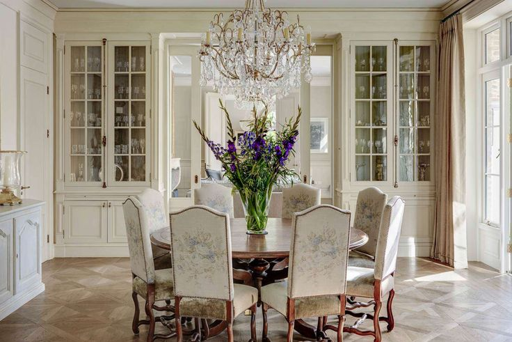 old world dining room gorgeous built-in display cabinets french inspired hardware round dining table old world french provincial dining chairs simple window treatments