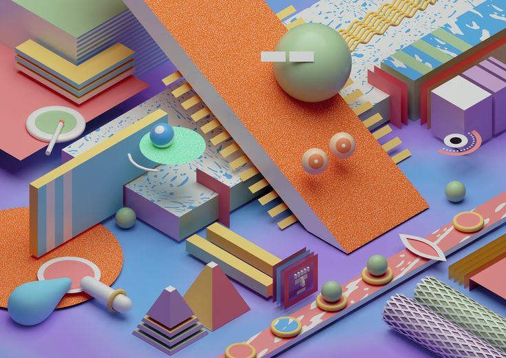 b3D, 3D, abstract, graphicdesign - ikyste | ello