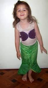 Resultado de imagen de disfraz sirenita
