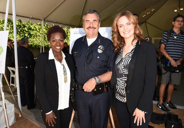 Emily Deschanel Photos Photos - (L-R) Actress Viola Davis, LAPD Police Chief Charlie Beck, and Emily Deschanel attend The Rape Foundation's groundbreaking ceremony for construction of a New Stuart House for sexually abused children on May 2, 2014 in Santa Monica, California. - The Rape Foundation's Groundbreaking Ceremony