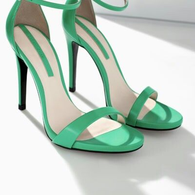Mint Green Sandal High Heels