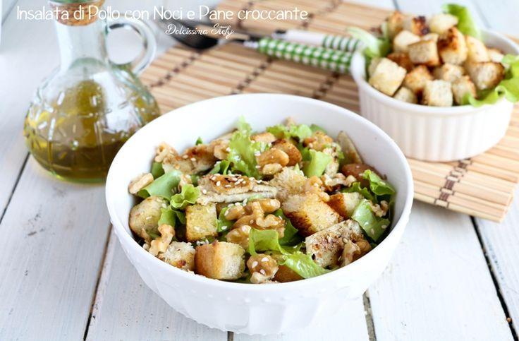 Insalata+di+Pollo+con+Noci+e+Pane+croccante
