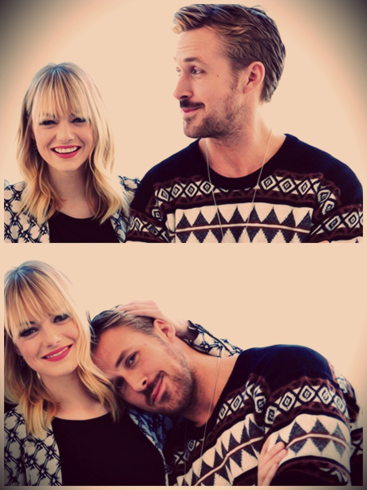 "Emma Stone and Ryan Gosling. It really is a shame... I used to like Emma Stone, but now she must ""go away""... For quite some time."