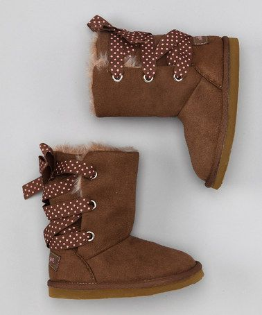 Take a look at this Brown Matilda Boot by OshKosh B'gosh on #zulily today!