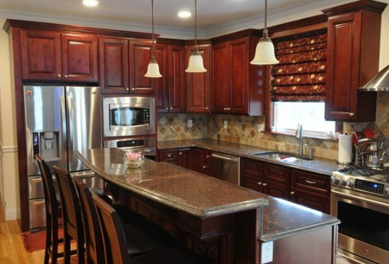 Like this 10x10 kitchen design layout but white cabinets for 10x10 kitchen designs photos