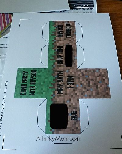 minecraft party invitations, #minecraft, #party, #minecraftparty, #invitations…