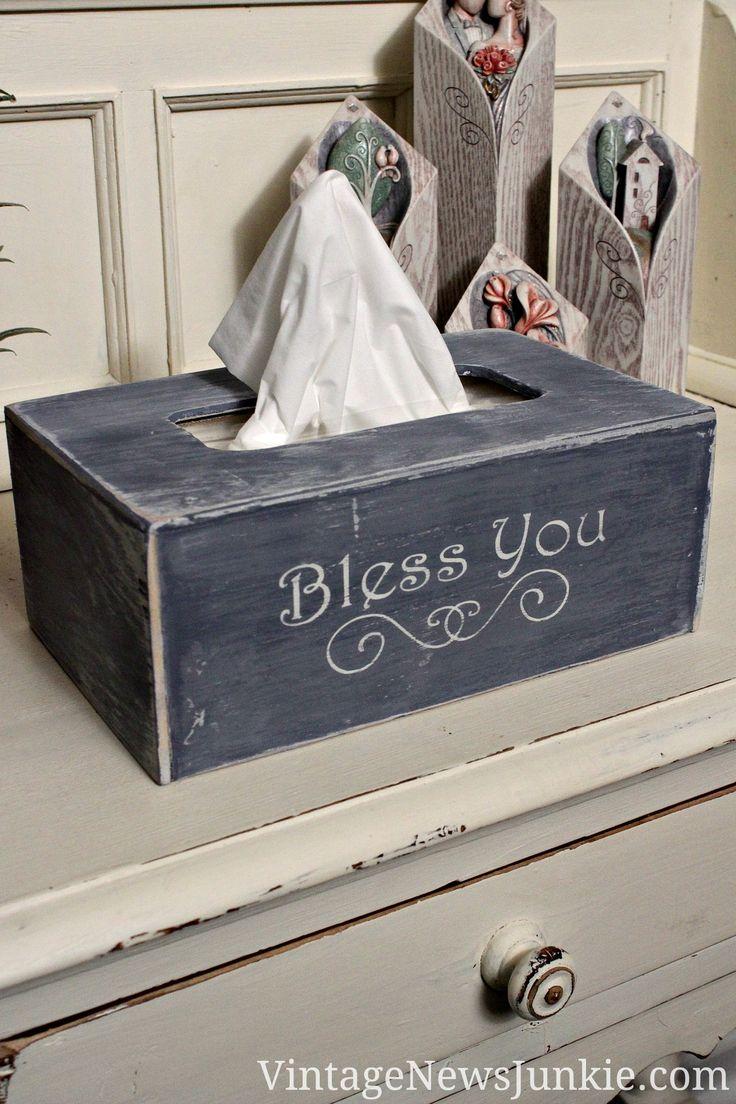 Ah choo bless you diy kleenex box easy tutorial for Tissue box cover craft