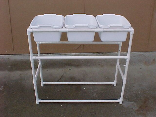 Pdf file plans for 3 pan dish washing station (among other GS camp needs) made from pvc pipe.