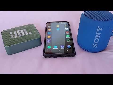 How to connect 2 bluetooth speakers Samsung S9 (dual audio