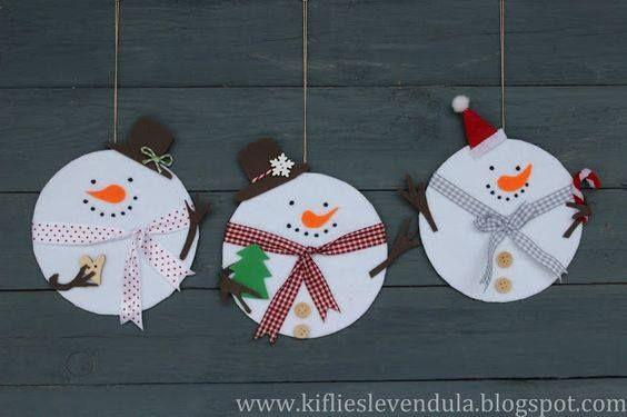 """Kerst: Knutselidee """"Sneeuwmannen"""""""