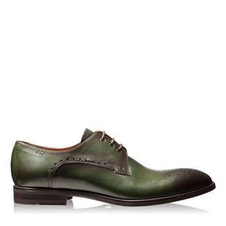 Pantofi barbati verzi 2828 piele naturala