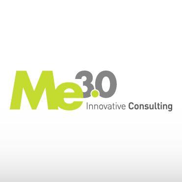 Me3.0 viene rappresentata con un marchio semplice e pulito, con un pay-off sempre in evidenza, per rimarcare la propria mission.