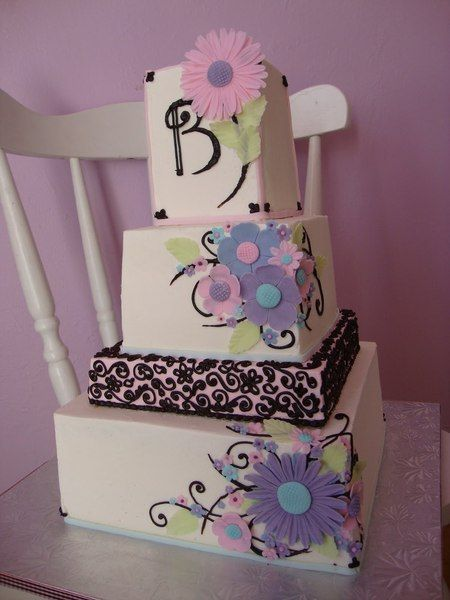 i love this cake!: Cakes Ideas, Cakes Cupcake, Awesome Cakes, Buttercream Cakes, Cakes Were, Cakes Wreck, Fondant Cakes, Birthday Cakes, Fondant Flower