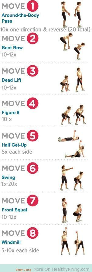 Fitness Exercise Workouts - Kettle bell dumbell workouts
