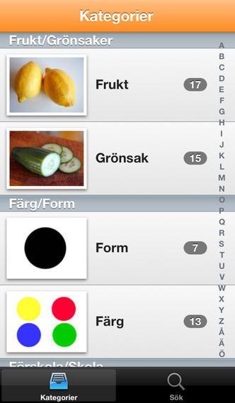 Appen Signitforward - Äntligen har du enkelt tecknen du letar efter till hands i din iphone!  SignitForward är en lättanvänd app för att lära dig cirka 1500 tecknade vardagsord.  TAKK och Teckenspråk.