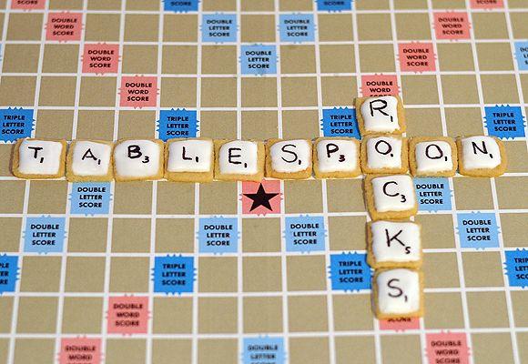 Cookie Scrabble Tiles