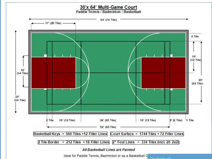 Multi sports court | Outdoor basketball court, Nba ...