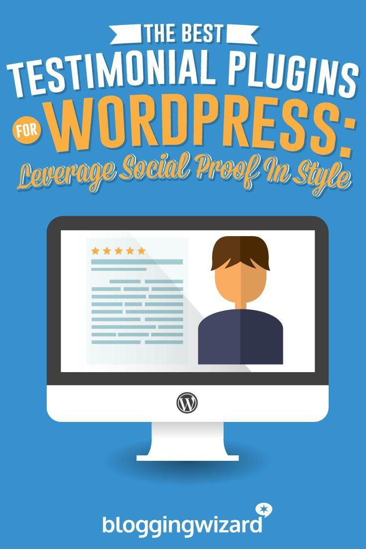 5 Top Testimonial Plugins For WordPress: Leverage Social Proof In Style via @Adam Connell | Blogging | Marketing | Entrepreneurship