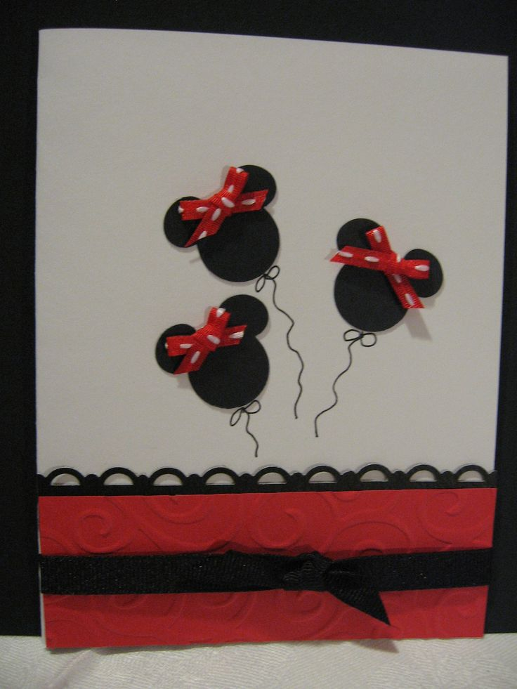 My great-niece, Lila Rae's birthday card.  Since she loves Mini Mouse I had to think of something. 2013.  This was quick and easy: a small Disney punch, some bows, and a little attention to the bottom of the card and it was done.