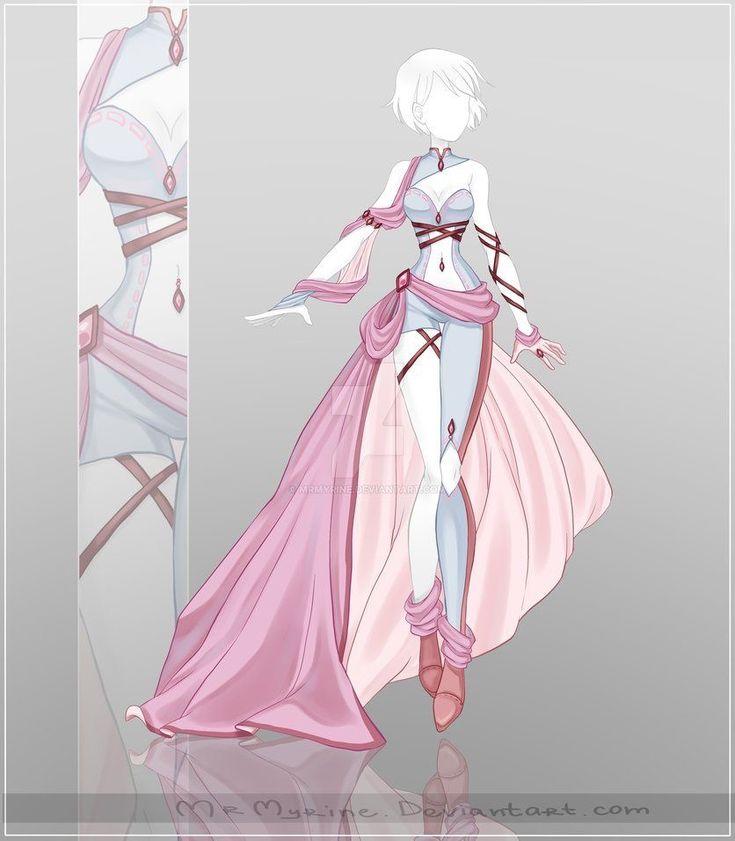 Картинки красивая аниме одежда
