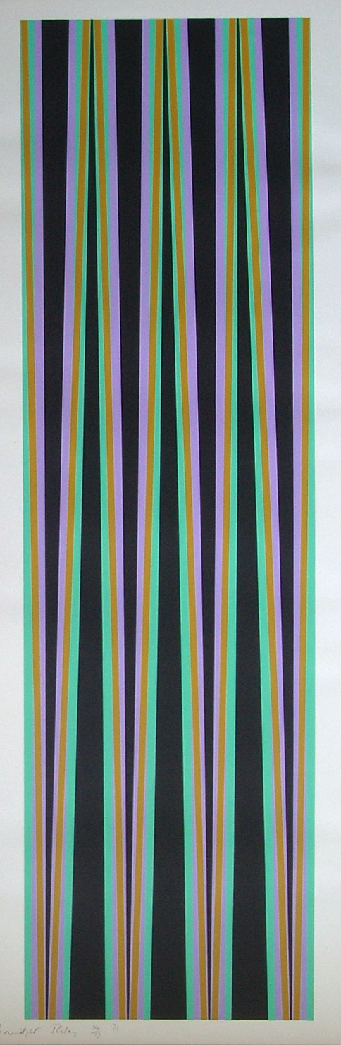 Bridget Riley, Elongated Triangles VI (1971)