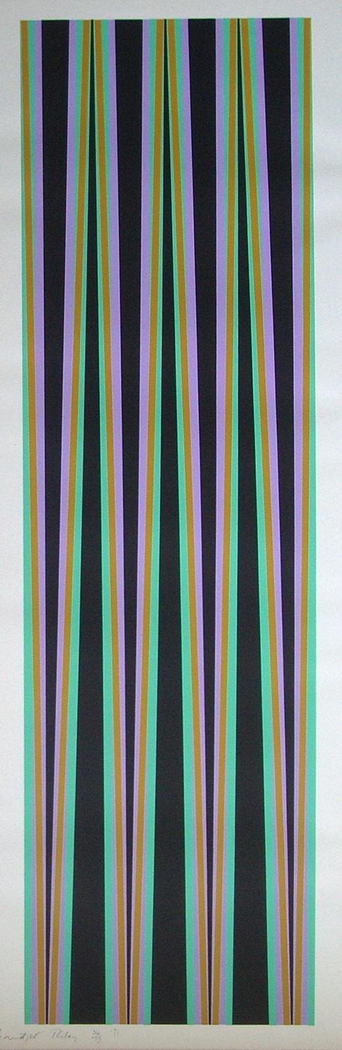 Bridget Riley, Elongated Triangles VI (1971)