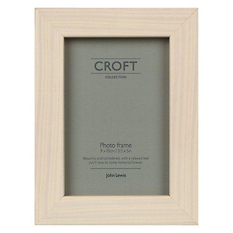 "Buy John Lewis Croft Photo Frame, 3.5 x 5"" (8.9 x 12.7cm) Cream Online at johnlewis.com"