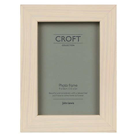 "Buy John Lewis Croft Photo Frame, 3.5 x 5"" (8.9 x 12.7cm) Cream Online at johnlewis.com"
