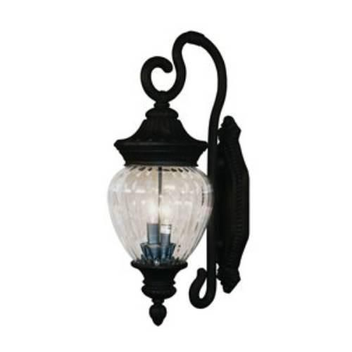Z-Lite Devonshire Collection Black Finish Outdoor Wall Light