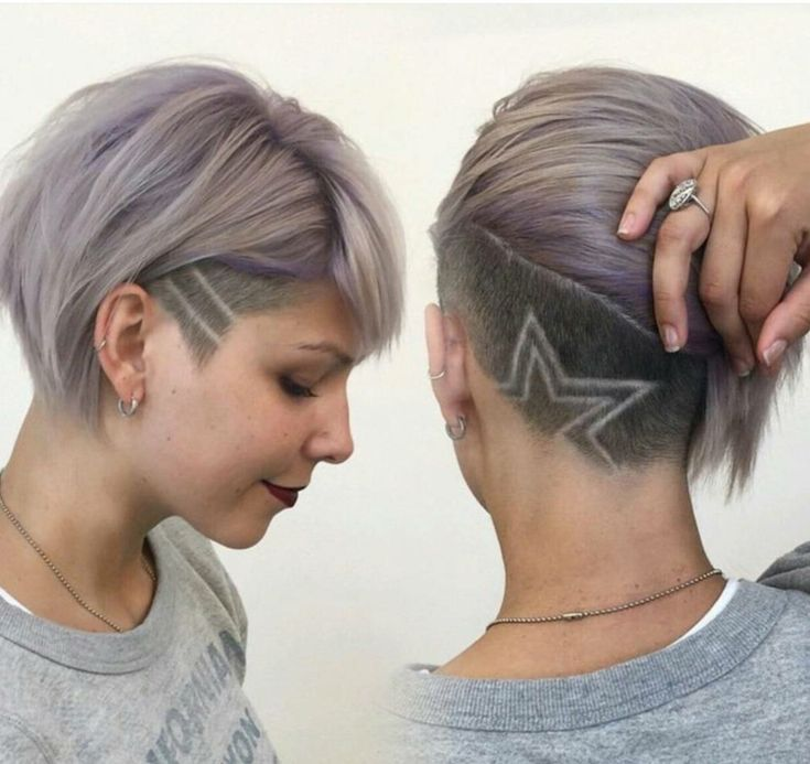 sidecut frau stern muster hair tattoo hairstyles tattoo frisuren pinterest frisur haar. Black Bedroom Furniture Sets. Home Design Ideas