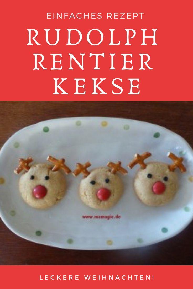 Kinder Weihnachtskekse.Rudolph Rentier Kekse Food Weihnachten Plätzchen Und Co