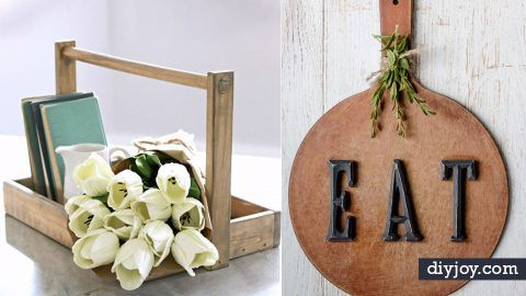 50 Rustic Farmhouse Ideas to Make and Sell | DIY Joy Projects and Crafts Ideas