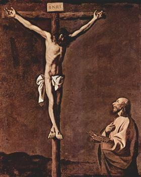 St. Luke as a Painter before Christ on the Cross - Francisco de Zurbaran
