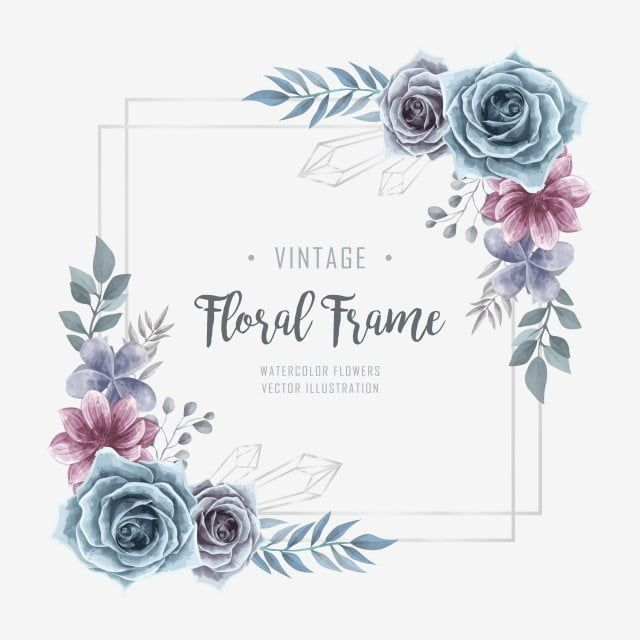 Elegant Wedding Watercolor Floral Flower Frame Bacgkround Background Pattern Flower Png And Vector With Transparent Background For Free Download In 2020 Flower Frame Watercolor Flower Vector Flower Drawing