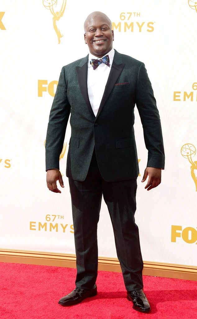 Tituss Burgess from Best Dressed Men at the 2015 Emmys  What a charmer! The Unbreakable Kimmy Schmidt star sure knows how to whip up a stylish bow tie and tuxedo jacket combo.