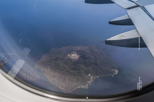 Nisyros island, air view.