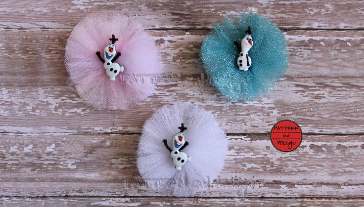 Olaf Tulle Hair Bow, Frozen Inspired Hair Bow, Sparkle Olaf HairBow, Pink, White, Blue, Frozen Hair Bow, Tulle Hair Clip, by PatternandDesign on Etsy https://www.etsy.com/listing/486349567/olaf-tulle-hair-bow-frozen-inspired-hair