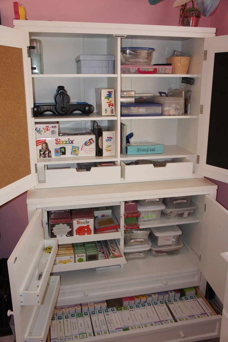 Storage Hutch For The New Craft Room Awesome For Cricut
