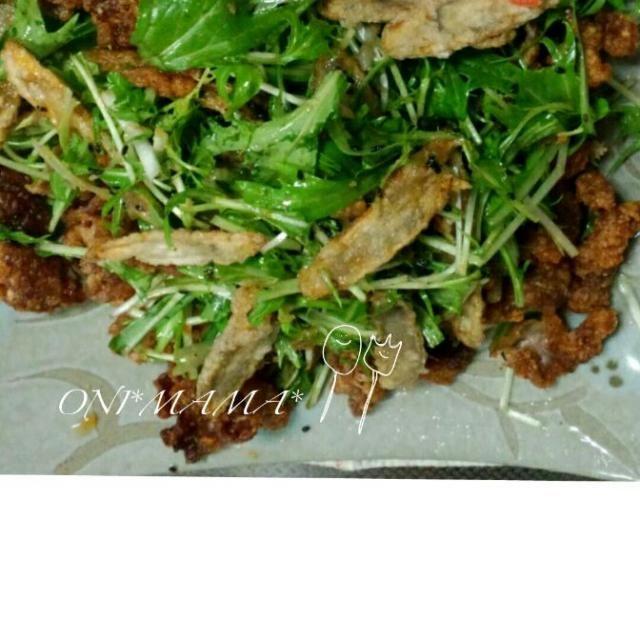 黒胡麻としょうがでしっかり風味も味もつくので淡泊な水菜も沢山もぐもぐ。余ったら翌日の朝にでも ご飯の上に盛って温玉やハンバーグでたれをかけ直し和風ロコモコ丼に。 写真とる前に娘に完食されてた(泣) - 14件のもぐもぐ - どっさり水菜のおかずサラダ by onimama